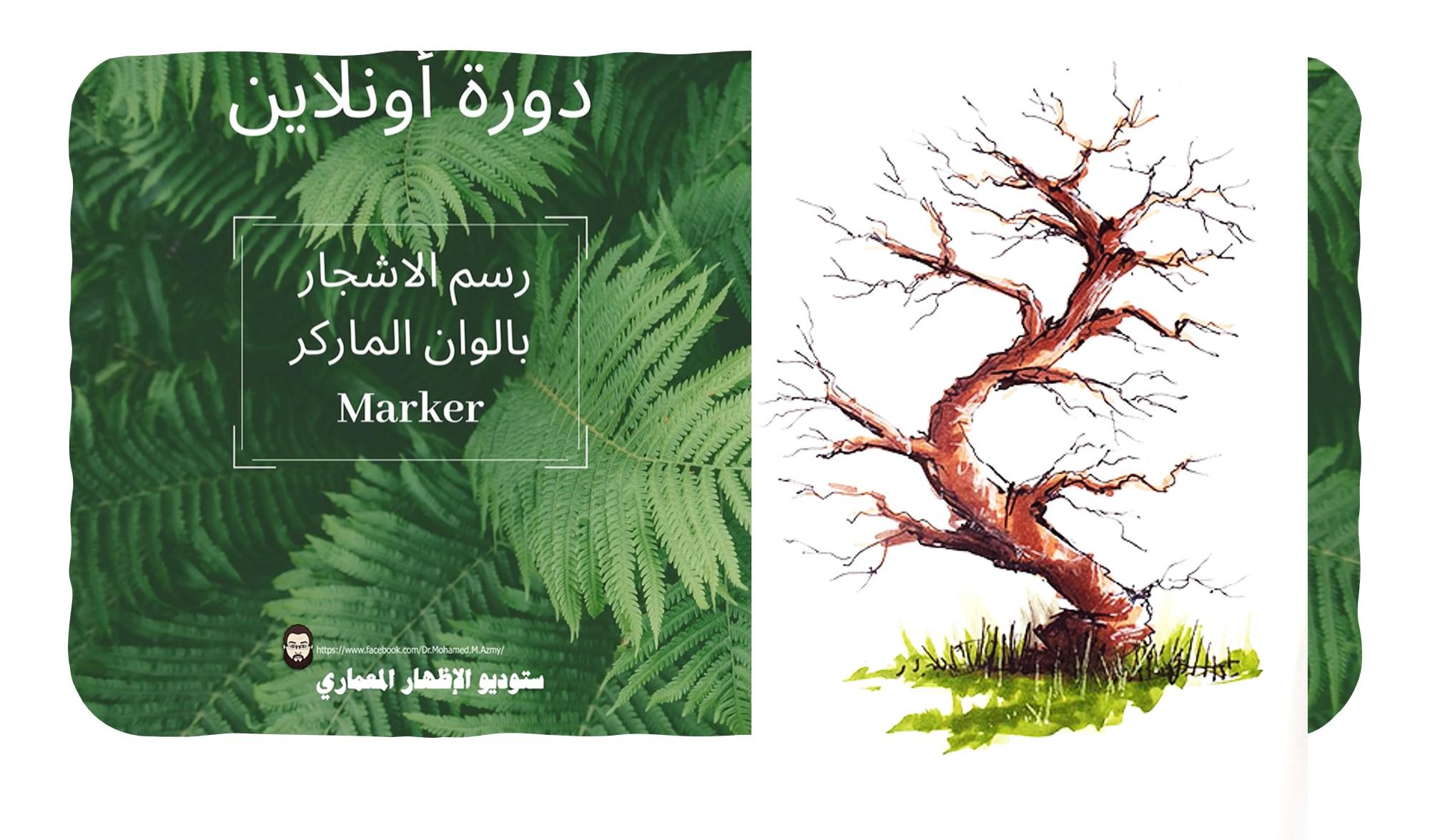 احتراف رسم الأشجار بألوان الماركر